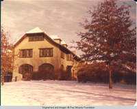 View of back side of the Grey house in Winter