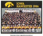 Football team, The University of Iowa, 1986