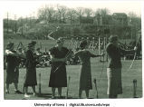 Archery demonstration on Mother's Day near Art Building, The University of Iowa, April 30, 1938