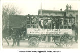 Mecca Day parade float, The University of Iowa, 1914