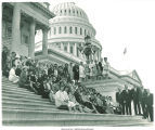 Group posed on the Capitol steps for the National Federation of Republican Women Convention, Washington, D.C., 1968