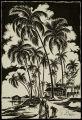 Person, palms, Ceylon