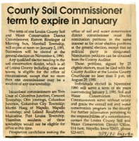 County Soil Commissioner Term To Expire