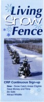 Living Snow Fence: Conservation Reserve Program Brochure