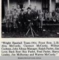 Wright High School Baseball Team, 1914; Mahaska County; Iowa