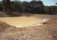 1995 - New Pond Site of Art Kershner after heavy rain