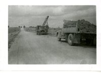 County Trucks Clearing Road, 1958