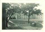 Outdoor stage at Quadrangle, The University of Iowa, 1923