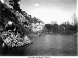 Quarry pond, Iowa City, Iowa, April 10, 1916