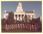 Group of Scottish Highlanders in front of Old Capitol, The University of Iowa, 1978