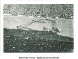 Marching band performing at football game, The University of Iowa, November 11, 1939?