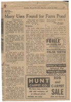 News articles from the 1960's.