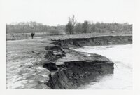 1970s Bank erosion by stream