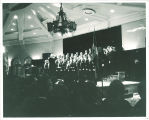 Men's choir in the Iowa Memorial Union, the University of Iowa, 1950s?