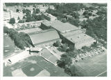 Aerial view of Field House and Armory, the University of Iowa, September 1964