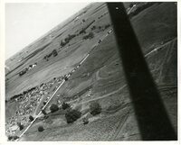 1948- Field Day Aerial view of crowd and parking area on the<br /> Plon Oberman and Kenneth Redferns farms