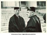 Retiring University President Walter Jessup, at right, The University of Iowa, 1934
