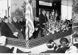 Veterans Hospital dedication ceremony, Iowa City, Iowa, March 16, 1952