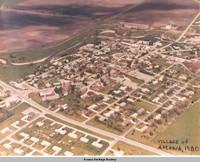 Aerial view Amana showing Price Creek, Amana, Iowa, 1980?