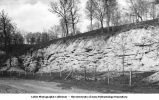 Outlier of Carboniferous sandstone, Iowa City, Iowa, late 1890s or early 1900s