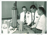 Scientists building a space probe, The University of Iowa, 1960s