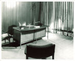 Director's office in the Iowa Memorial Union, the University of Iowa, 1950s?