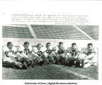 Iowa football players preparing for Rose Bowl against Oregon State, The University of Iowa, December 21, 1956