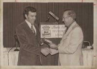 Award given to Marvin Maar.