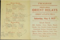 Orient, Iowa Relays - 1935