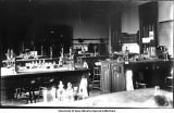 Botanical Laboratory, north room, Old Science Hall, The University of Iowa, 1900s