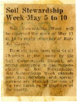 Soil Stewardship Week from May 5-10, 1958.