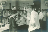 Instruction in pharmacy laboratory, The University of Iowa, 1910s