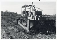 1977 Earthmoving machines move dirt for Geode Wonderland Project