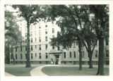 West facade of East Hall, the University of Iowa, August 1932