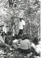 Outdoor classroom with Paul Wray, 1987