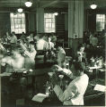 Pharmacy students mixing compounds in a laboratory, The University of Iowa, November 8, 1940