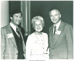 Mary Louise Smith flanked by Minnesota's Lt. Gov. Louis Wangberg and Governor Al Quie, Minneapolis, Minn., December, 1978