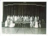 School children in costume for dance recital, The University of Iowa, March 10, 1950