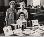 Elizabeth Michener, Head Librarian of Oskaloosa Public Library, with Winnifred Parcell and Martha Moore; Mahaska County; Iowa