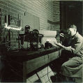 Man experiments with electricity, The University of Iowa, 1930s