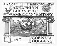 Cornell College bookplate
