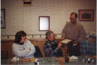 2000- Robert Brown receives, Woodland Owner of the Year Award at the Country Kitchen restaurant in Burlington, Iowa