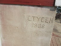 005. Emil Tyden Imprint date in building foundation - 1936