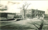 University High School, now called North Hall, viewed from the southeast, The University of Iowa, March 1927