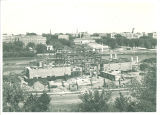 West view of Art building construction from uphill, the University of Iowa, June 1934