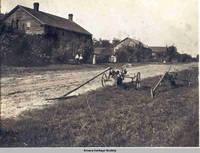 Street scene, Middle Amana, Iowa, 1900s