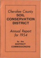 Cherokee County Soil Conservation District Annual Report - 1954
