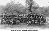 Band at Camp Macbride, The University of Iowa, 1914