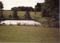 1996 - Jerry Lundrum Pre-construction site of pond