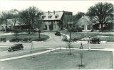 Street view of Psychopathic Hospital, the University of Iowa, May 1935